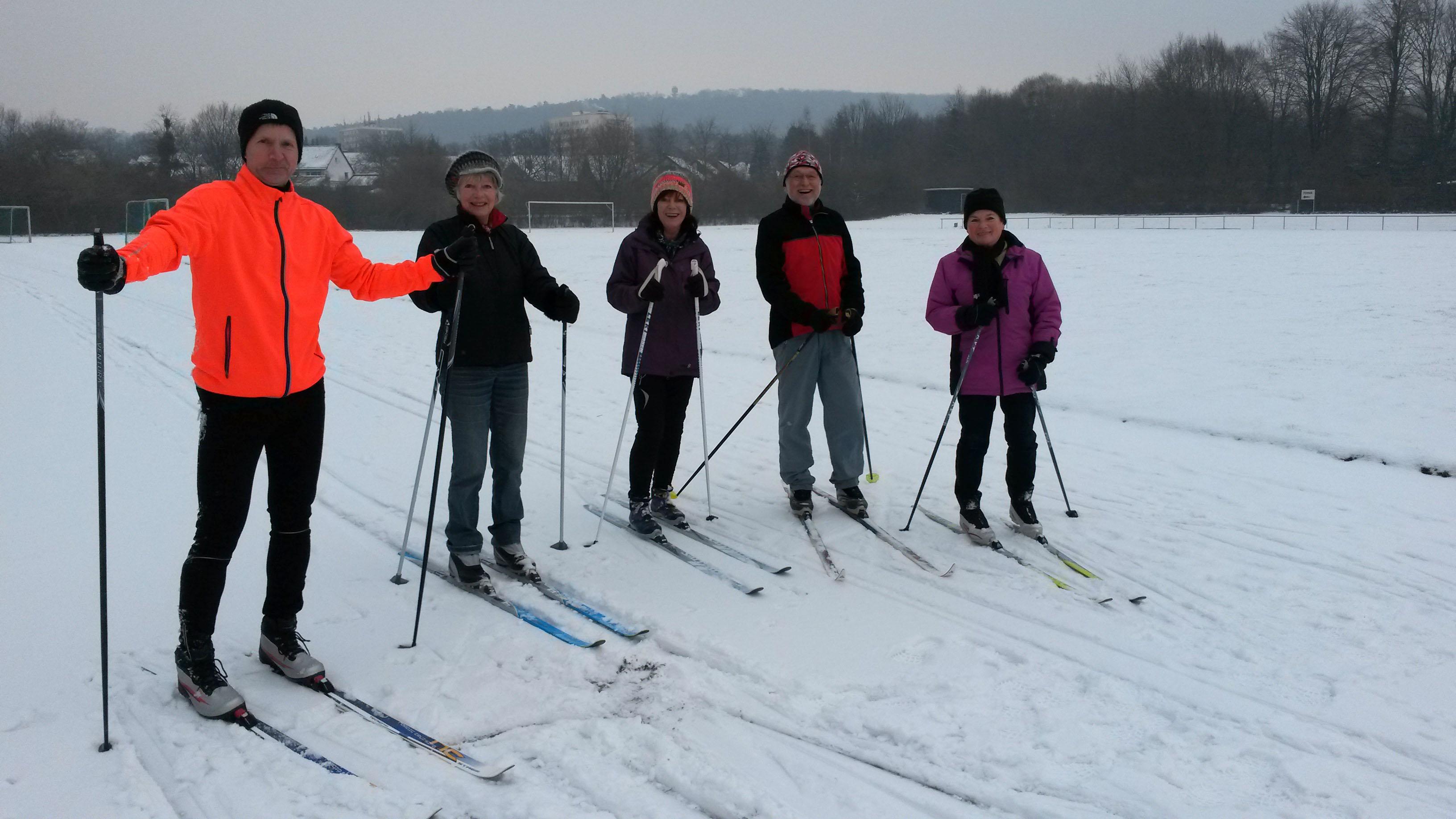 Skilanflauf auf dem MTV-Platz