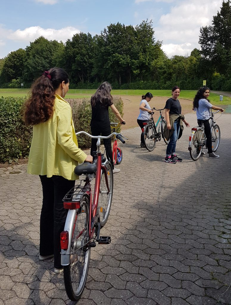 Fahrradkurs für Flüchtlingsfrauen