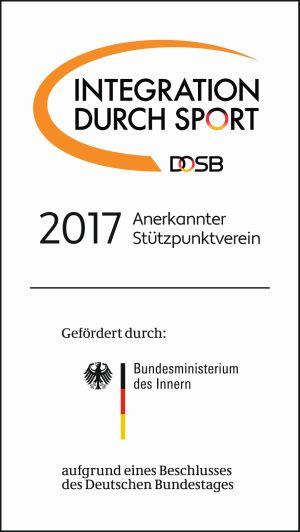 Anerkannter Stützpunktverein Integration durch Sport 2017
