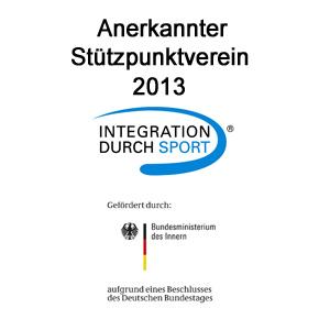 Anerkannter Stützpunktverein Integration durch Sport 2013